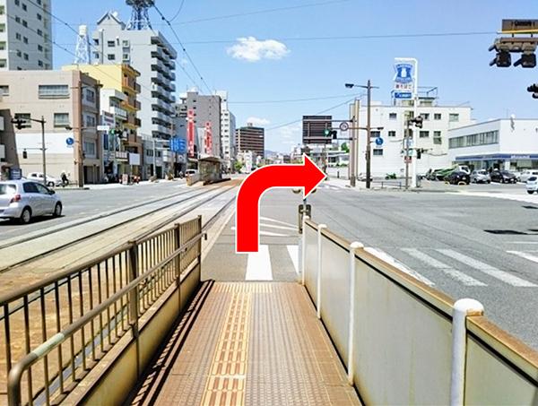 寺町電停からのアクセス写真2