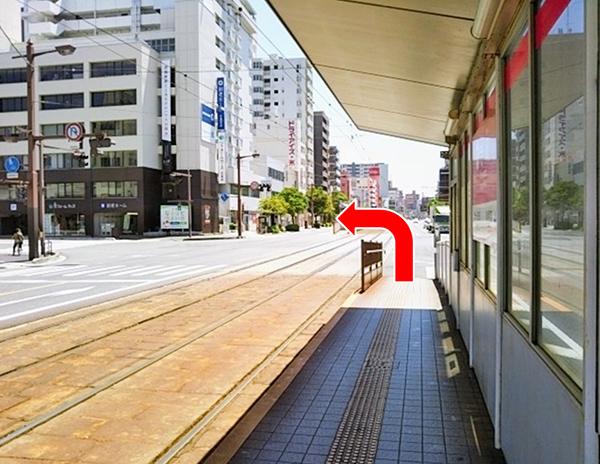 横川駅方面行き電車からのアクセス写真2